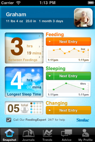 similac baby journal screen 01
